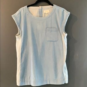 EUC Lou & Grey chambray smock top